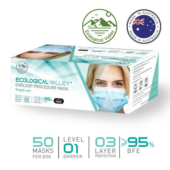 Surgical Face Mask LEVEL 1 (AS 4381:2015) Australian Made